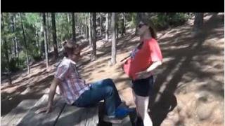 Hamile Kadın Ormanda Seks